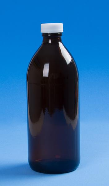 Botella de Vidrio Ambar 500ml T28
